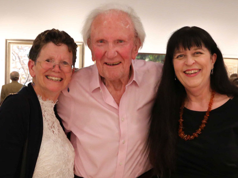 David Shepherd with Di and Ros