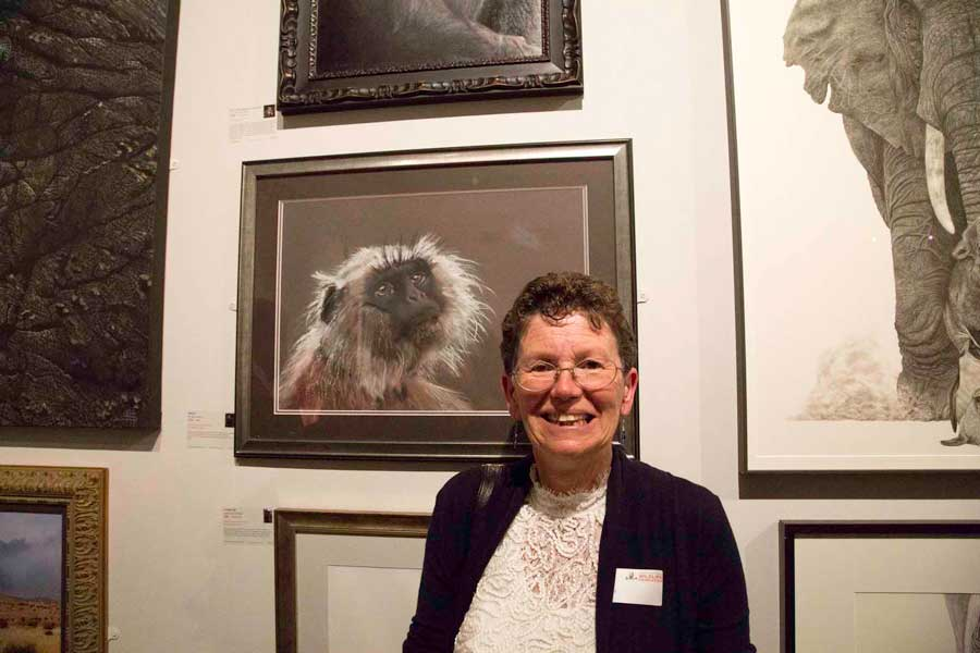 Di Haines at David Shepherd Wildlife Artist