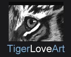tiger love art logo