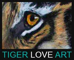 Tiger Love Art Logo